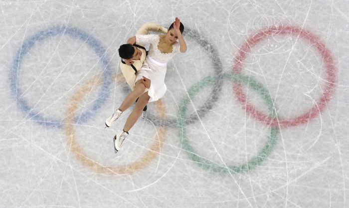 Cabang seluncur indah pada Olimpiade Musim Dinging PyeongChang dilangsungkan di Gangneung Ice Arena in Gangneung, Korea Selatan. Tercatat 32 negara berpasrtisipasi pada cabang ini (REUTERS/John Sibley)