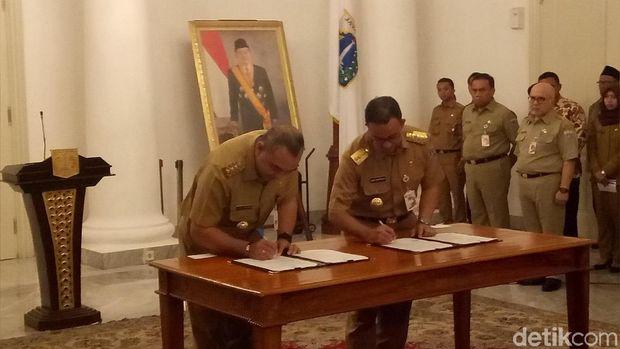 Pemprov DKI Jakarta menjalin kerja sama dengan Kabupaten Tangerang terkait penyediaan air bersih
