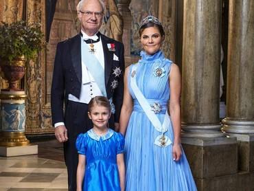 Potret terbaru Putri Estelle bersama kakeknya Raja Carl Gustaf dan sang bunda, Putri Mahkota Victoria. (Foto; Instagram @princessetelleofsweden)