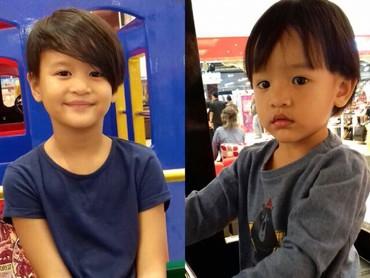 Mereka berdua lebih mirip ayah atau ibunya nih wajahnya? (Foto: Instagram/ernestprakasa)
