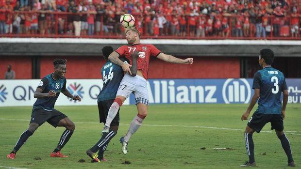 Bali United menelan kekalahan di laga perdana Piala AFC.