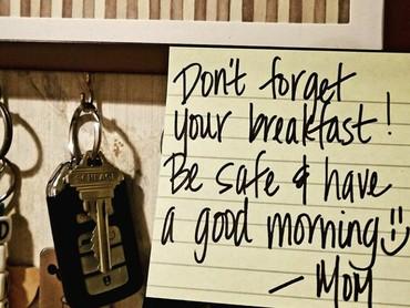 Jangan lupa sarapan pagi ya. (Foto: Instagram @danielle_grijalva)