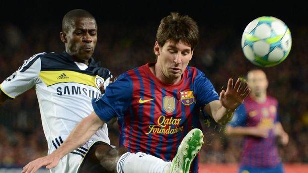 Lionel Messi hanya meraih satu kemenangan dalam delapan pertemuan dengan Chelsea.