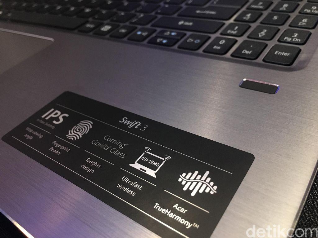 Tampak adanya teknologi fingerprint yang posisinya ada di bagian kanan. (Foto: detikINET/Agus Tri Haryanto)