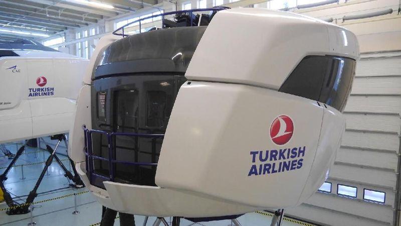 Turkish Airlines Flight Training Center ada di Istanbul, Turki. Ini menjadi pusat pelatihan buat para pilot hingga awak kabin Turkish Airlines (Kurnia/detikTravel)