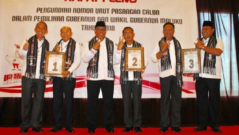 Ini Nomor Urut Pilgub Maluku, Calon Independen Lolos