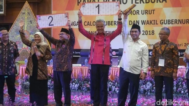 Makna Nomor Urut bagi Ganjar-Yasin dan Sudirman-Ida di Pilgub Jateng