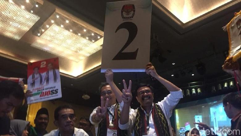 Dapat Nomor 2, Djarot:  Bisa Peace, Bisa Salam 2 Periode Pak Jokowi