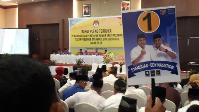 Diikuti 4 Pasang, Ini Daftar Nomor Urut Pilgub Riau