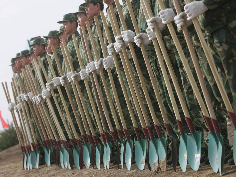 China Tarik 60.000 Tentara Perbatasan untuk Tanam Pohon di Pedalaman