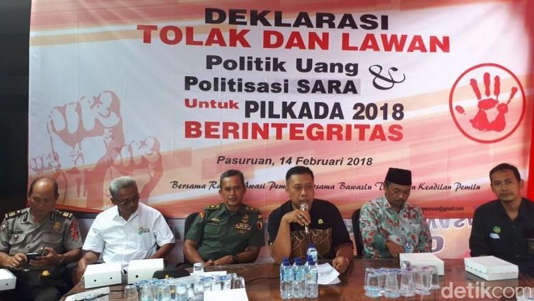 Panwas Kota Pasuruan Ajak Lawan Politik Uang dan SARA di Pilgub Jatim