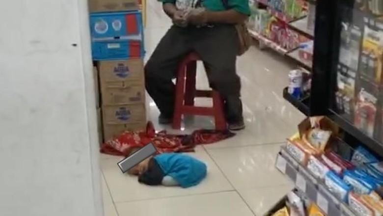 Dinsos Cari Bocah Lemas yang Tergeletak di Minimarket Jakpus