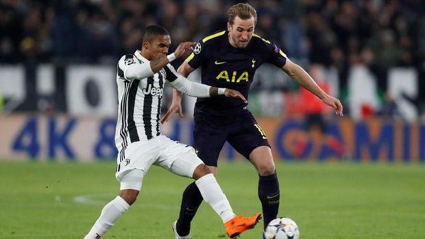Harry Kane beberapa kali memberikan ancaman ke gawang Juventus.