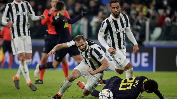 Juventus mendapatkan perlawanan sengit dari Tottenham Hotspur.