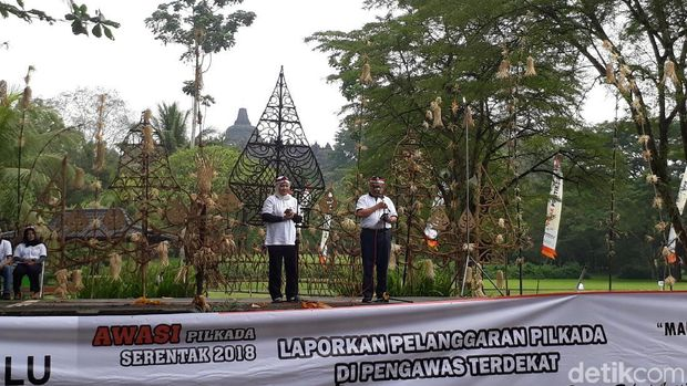 Apel Pengawas Pemilu dan Launching Pengawasan, Kabupaten Magelang.