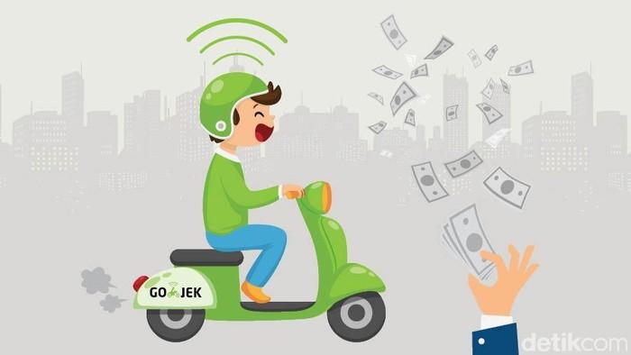 Kucuran investasi di babak pendanaan terkini Go-Jek berpotensi membuat nilainya menyentuh, bahkan melewati USD 9 miliar atau sekitar Rp 136 triliun. Foto: Tim Infografis, Mindra Purnomo