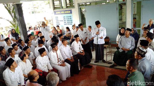 Majelis Dzikir Gusdurian Berdoa Untuk Bangsa di Area Gereja Lidwina