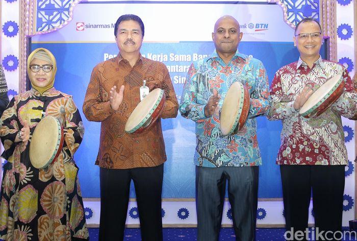 Presiden Direktur Sinarmas MSIG Life Premraj Thuraisingam dan Managing Director Consumer Banking BTN Budi Satria menghadiri peluncuran tersebut.