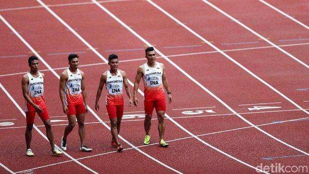 Tim lari estafer 4x100 meter siap tempur di Asian Games 2018.