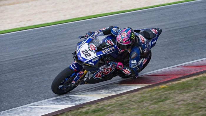 Tagline Semakin di Depan muncul di motor tim Pata Yamaha (Foto: istimewa)