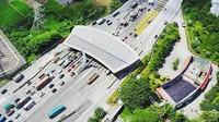 Penampakan gerbang Tol Tamer dari udara. Istimewa/Instagram/@kydo_fernando.