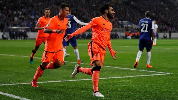 Mohamed Salah dan Roberto Firmino mencetak satu gol ke gawang FC Porto.