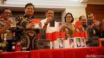 Kapolri dan 4 Menteri Musnahkan Ponsel Hingga Miras Ilegal