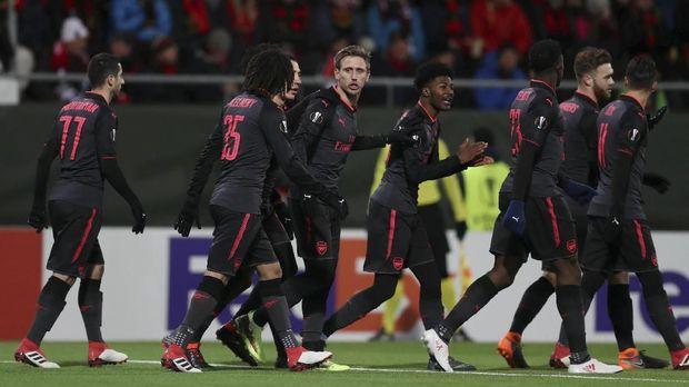 Arsenal berpeluang melangkah ke babak 16 besar Liga Europa setelah menang 3-0 atas Ostersunds di leg pertama babak 32 besar.