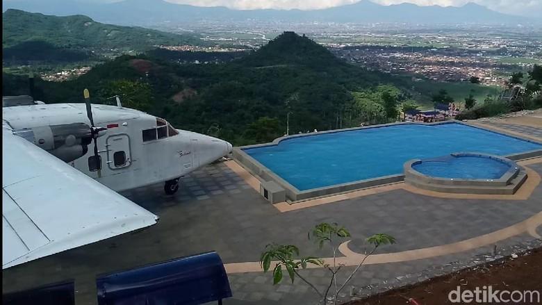 Pesawat Perintis di Taman Love Soreang (Wisma Putra/detikTravel)