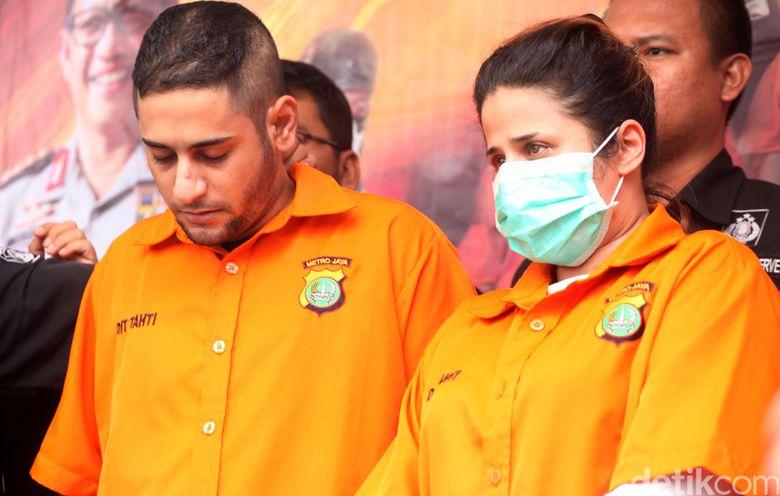 Dhawiya ditangkap bersama sang tunangan atas kasus narkoba. Foto: Lamhot Aritonang