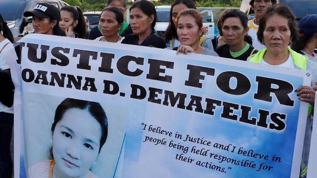 Keluarga dan kerabat minta keadilan ditegakkan untuk kematian Joanna Demafelis