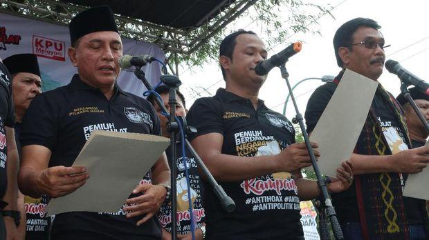 Edy Rahmayadi mencalonkan diri sebagai Gubernur Sumatera Utara di Pilgub 2018.