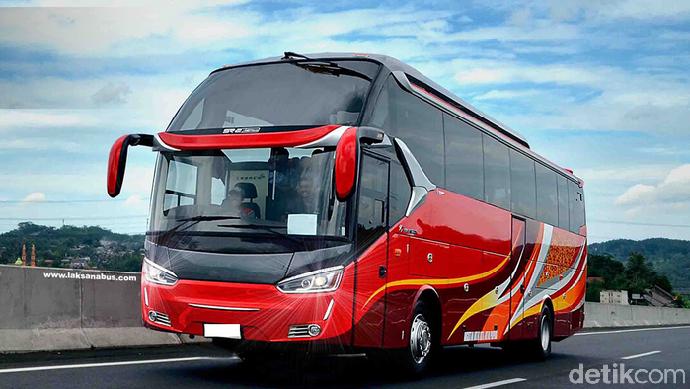 Bus yang diekspor ke negara Bangladesh itu adalah model Legacy Sky SR-2 XHD Prime dengan sasis yang direncanakan dari Scania. Foto: Laksana
