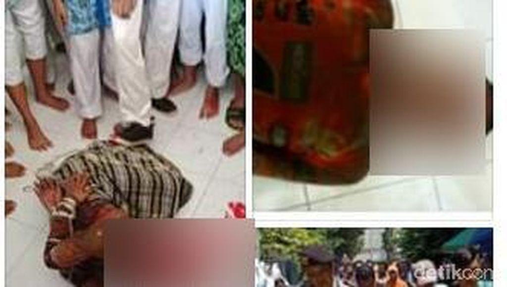 Viral Penyerangan Pria Tak Dikenal ke Kiai di Lamongan