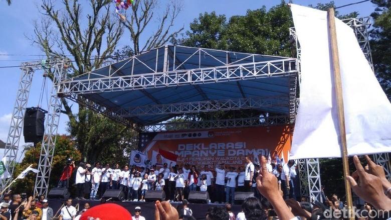Deklarasi Kampanye Damai, Ini Imbauan Tiga Paslon Pilwali Malang