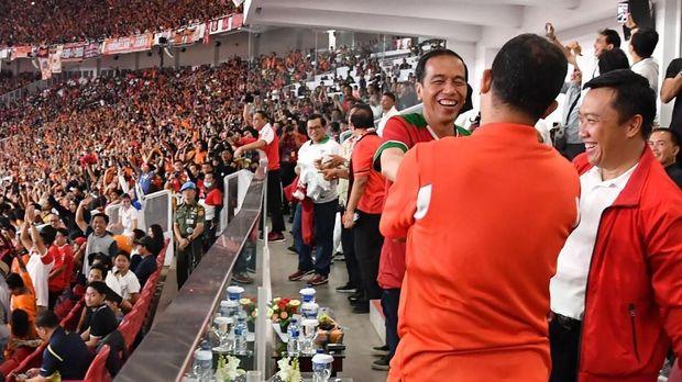 Jokowi sempat hadir di final Piala Presiden 2019.