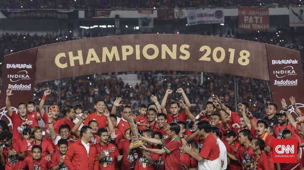 Persija Jakarta ketika menjadi juara Piala Presiden 2018.