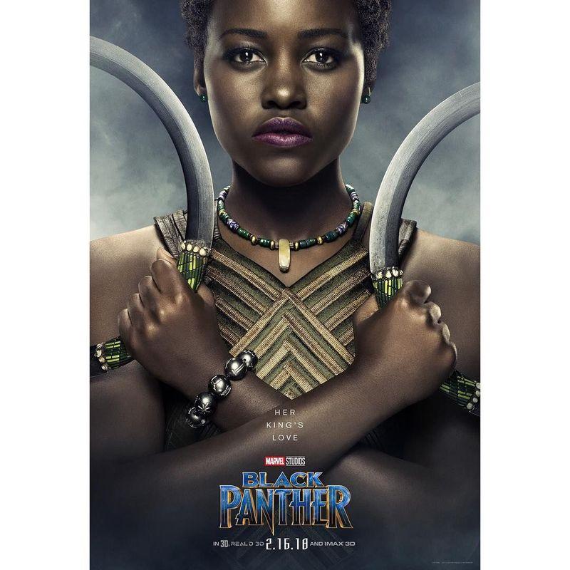 Karakter Nakia yang diceritakan sebagai kekasih dari Black Panther dalam film produksi Marvel, Black Panther. Nakia diperankan oleh Lupita Nyongo. (lupitanyongo/Instagram)