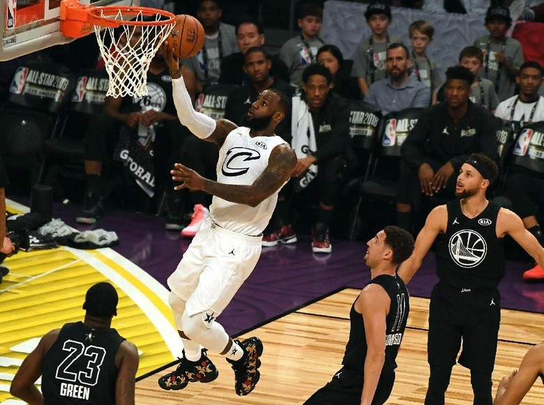 NBA All-Star 2018: Comeback Gemilang, Tim LeBron Hantam Tim Curry
