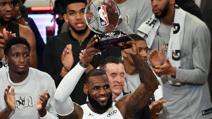 LeBron James jadi MVP All-Star 2018 (Richard Mackson-USA TODAY Sports)