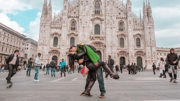 Rob dan Joli telah berpacaran jarak jauh selama 3 tahun (@dipkisstravel/Instagram)