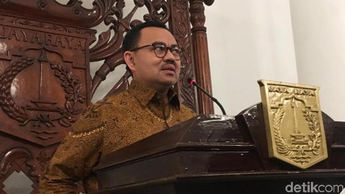 Cagub Jateng Sudirman Said menemui Gubenur DKI Anies Baswedan.