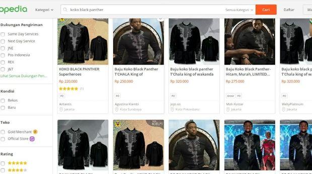 Baju Koko Ala Black Panther Jadi Tren di Online Shop, Ini Kisaran Harganya