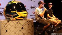 Begini Cara Pebalap MotoGP Tes Helm Buatan Citeureup