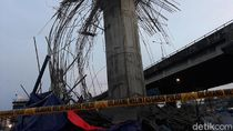 Polisi Masih Selidiki Penyebab Ambruknya Tiang Girder Tol Becakayu