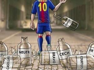 Meme Messi Dipuja Akhirnya Bisa Jebol Chelsea