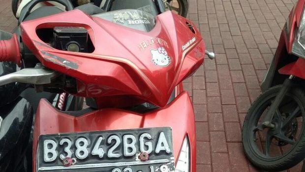 Motor yang dicuri diduga telah diganti pelatnya.