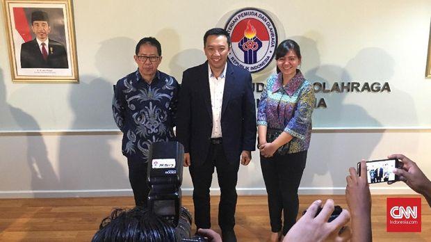 Menpora Imam Nahrawi tetap berharap Timnas Indonesia putra bisa masuk empat besar di Asian Games 2018.