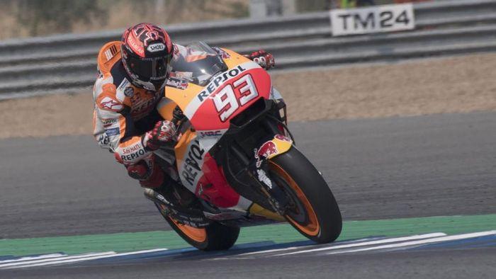 Marc Marquez gembira dengan akselerasi dan top speed motornya (Foto: Mirco Lazzari gp/Getty Images)