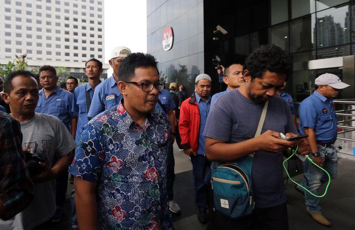 Kedatangan mereka untuk mempertanyakan perkembangan kasus dugaan tindak pidana korupsi perpanjangan kontrak terminal pelabuhan Jakarta International Container Terminal (JICT) dan terminal peti kemas koja Tanjung Priok. Foto: dok. SP JICT